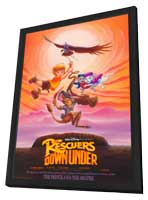 The Rescuers Down Under - 27 x 40 Movie Poster - Style A - in Deluxe Wood Frame