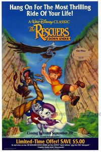 The Rescuers Down Under - 27 x 40 Movie Poster - Style B