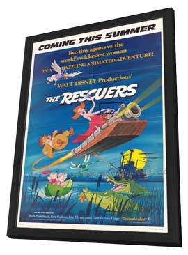 Rescuers, The - 11 x 17 Movie Poster - Style E - in Deluxe Wood Frame