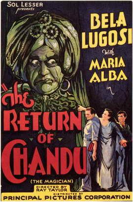 The Return of Chandu - 11 x 17 Movie Poster - Style C