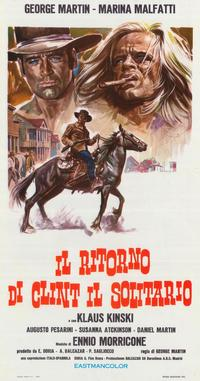 The Return of Clint the Stranger - 27 x 40 Movie Poster - Italian Style A