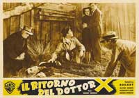 The Return of Doctor X - 11 x 14 Poster Italian Style B