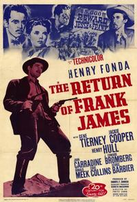 The Return of Frank James - 27 x 40 Movie Poster - Style A