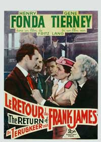 The Return of Frank James - 27 x 40 Movie Poster - Belgian Style A