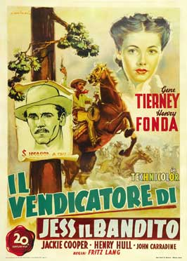 The Return of Frank James - 43 x 62 Movie Poster - Italian Style A