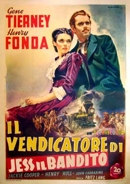 The Return of Frank James - 11 x 17 Movie Poster - Italian Style B