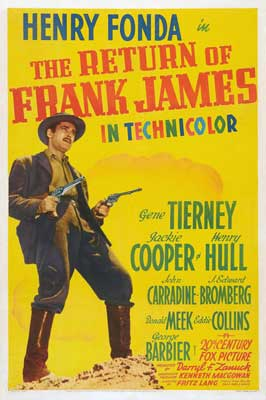 The Return of Frank James - 27 x 40 Movie Poster - Style B