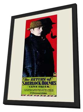 The Return of Sherlock Holmes - 11 x 17 Movie Poster - Style A - in Deluxe Wood Frame