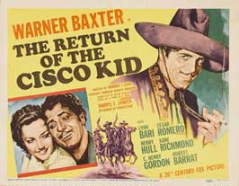 The Return of the Cisco Kid - 11 x 14 Movie Poster - Style A