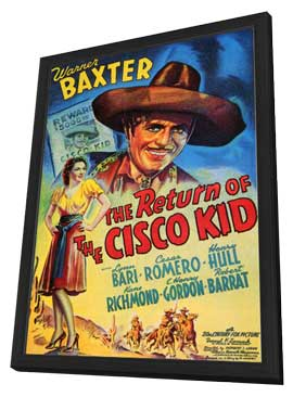 The Return of the Cisco Kid - 11 x 17 Movie Poster - Style A - in Deluxe Wood Frame