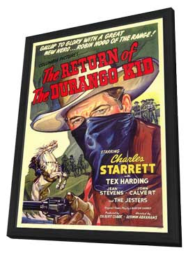 The Return of the Durango Kid - 11 x 17 Movie Poster - Style A - in Deluxe Wood Frame