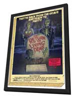The Return of the Living Dead - 27 x 40 Movie Poster - Style A - in Deluxe Wood Frame
