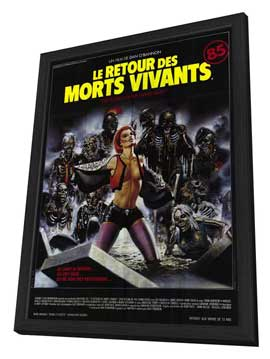 The Return of the Living Dead - 11 x 17 Poster - Foreign - Style A - in Deluxe Wood Frame