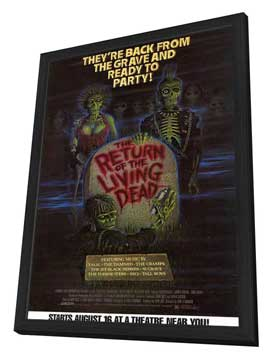 The Return of the Living Dead - 11 x 17 Movie Poster - Style B - in Deluxe Wood Frame