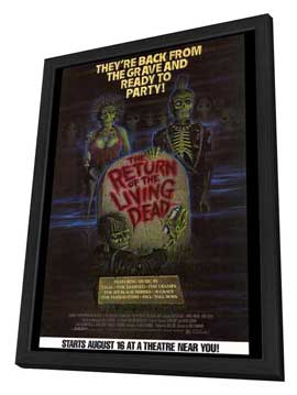 The Return of the Living Dead - 27 x 40 Movie Poster - Style B - in Deluxe Wood Frame