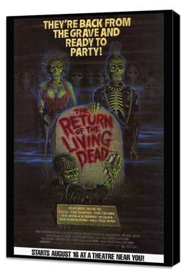 The Return of the Living Dead - 27 x 40 Movie Poster - Style B - Museum Wrapped Canvas