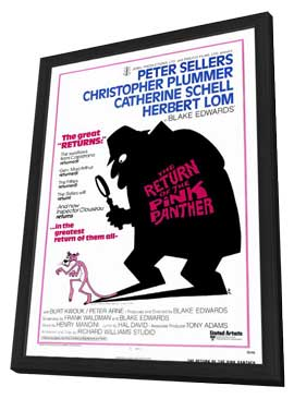The Return of the Pink Panther - 27 x 40 Movie Poster - Style A - in Deluxe Wood Frame