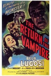 The Return of the Vampire - 27 x 40 Movie Poster - Style B