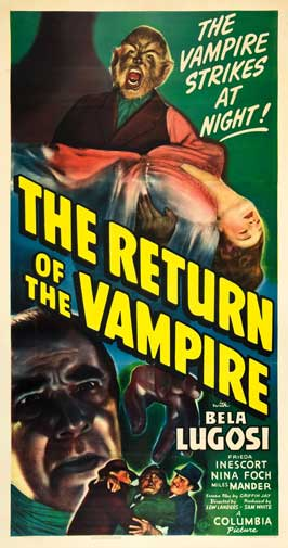 The Return of the Vampire - 20 x 40 Movie Poster - Style A