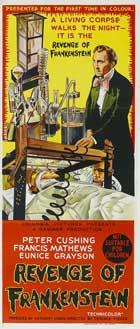The Revenge of Frankenstein - 13 x 30 Movie Poster - Australian Style A