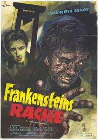 The Revenge of Frankenstein - 27 x 40 Movie Poster - German Style A