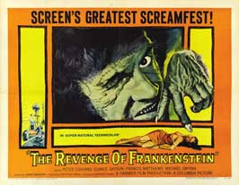 The Revenge of Frankenstein - 22 x 28 Movie Poster - Half Sheet Style A