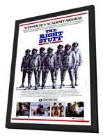 The Right Stuff - 27 x 40 Movie Poster - Style B - in Deluxe Wood Frame