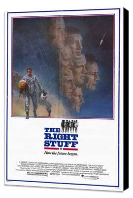 The Right Stuff - 27 x 40 Movie Poster - Style A - Museum Wrapped Canvas