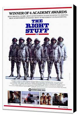 The Right Stuff - 27 x 40 Movie Poster - Style B - Museum Wrapped Canvas