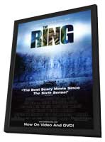 The Ring - 11 x 17 Movie Poster - Style C - in Deluxe Wood Frame