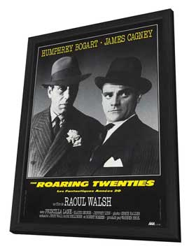 The Roaring Twenties - 11 x 17 Movie Poster - French Style A - in Deluxe Wood Frame