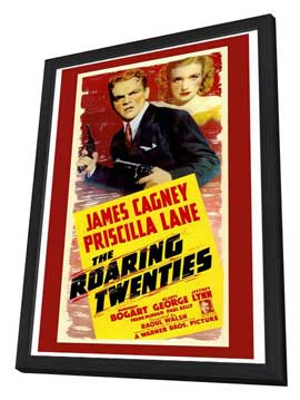 The Roaring Twenties - 27 x 40 Movie Poster - Style A - in Deluxe Wood Frame