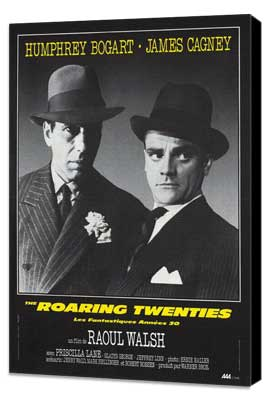 The Roaring Twenties - 11 x 17 Movie Poster - French Style A - Museum Wrapped Canvas