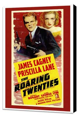 The Roaring Twenties - 27 x 40 Movie Poster - Style A - Museum Wrapped Canvas