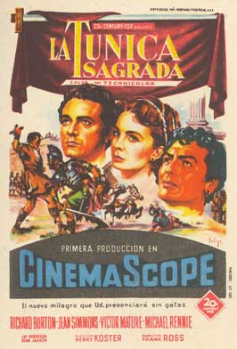 The Robe - 11 x 17 Movie Poster - Spanish Style B