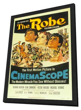 The Robe - 11 x 17 Movie Poster - Style A - in Deluxe Wood Frame
