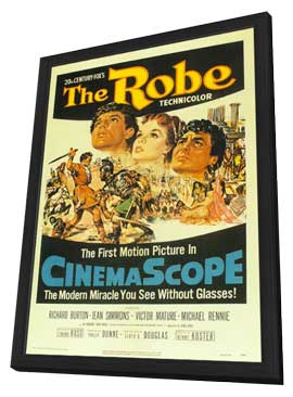 The Robe - 27 x 40 Movie Poster - Style A - in Deluxe Wood Frame