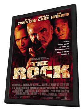 The Rock - 11 x 17 Movie Poster - Style D - in Deluxe Wood Frame