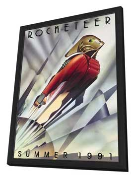 The Rocketeer - 27 x 40 Movie Poster - Style A - in Deluxe Wood Frame
