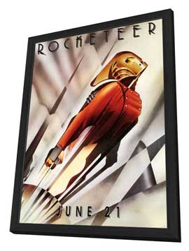The Rocketeer - 27 x 40 Movie Poster - Style C - in Deluxe Wood Frame