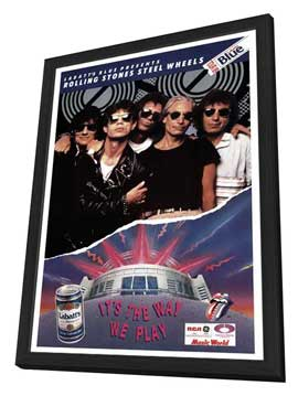 The Rolling Stones Steel Wheels Tour - 11 x 17 Movie Poster - Style A - in Deluxe Wood Frame
