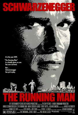 The Running Man - 27 x 40 Movie Poster - Style A
