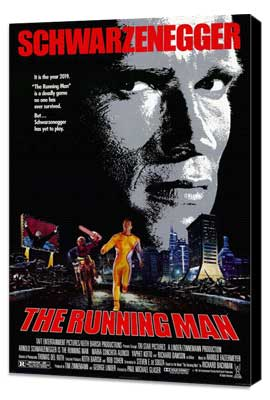 The Running Man - 11 x 17 Movie Poster - Style C - Museum Wrapped Canvas