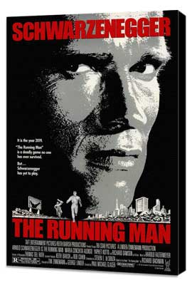 The Running Man - 27 x 40 Movie Poster - Style A - Museum Wrapped Canvas