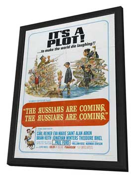 The Russians Are Coming, the Russians Are Coming - 11 x 17 Movie Poster - Style B - in Deluxe Wood Frame