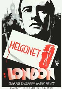 The Saint in London - 11 x 17 Movie Poster - Swedish Style A