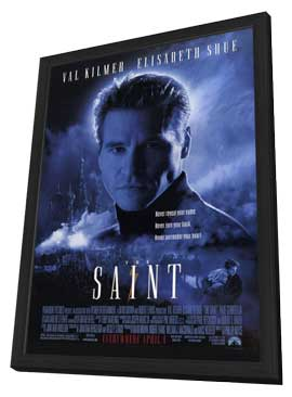 The Saint - 11 x 17 Movie Poster - Style A - in Deluxe Wood Frame