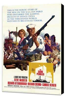 The Sand Pebbles - 27 x 40 Movie Poster - Style A - Museum Wrapped Canvas