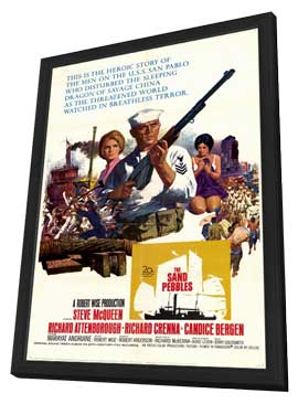 The Sand Pebbles - 11 x 17 Movie Poster - Style A - in Deluxe Wood Frame