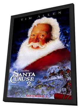 The Santa Clause 2 - 27 x 40 Movie Poster - Style B - in Deluxe Wood Frame
